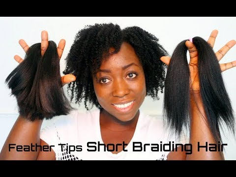 How To Feather Tips Short Kanekalon Braiding Hair Best Results Box Braids Twist Hair Extensions