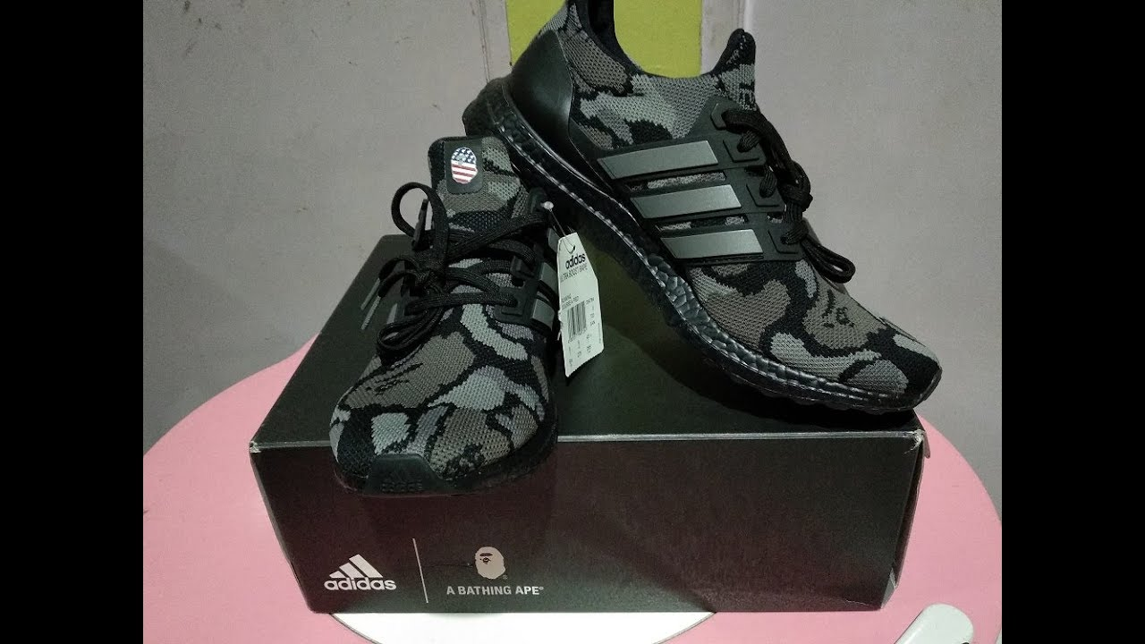 2d5133abe Bape x Adidas Ultra Boost 2019 Released - YouTube