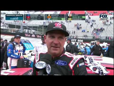 CLINT BOWYER: 2017 Food City 500 Post-Race Interview on NASCAR on FOX
