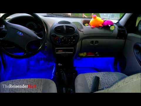 Светодиодная подсветка с двойным включением (подсветка ног водителя и пассажира) [TheReisenderHell]