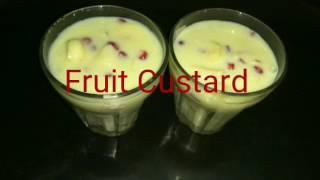 fruit custard recipe with custard powder