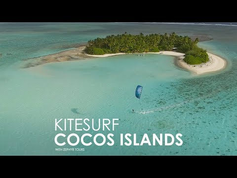 Kitesurfing on the Cocos Islands with Zephyr Tours