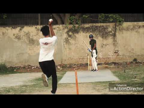 Batting Net Practice On Pace Bowling
