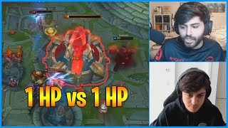 1 HP Nexus vs 1 HP Sion Passive...Twitch Rivals Finals...LoL Daily Moments Ep 1138