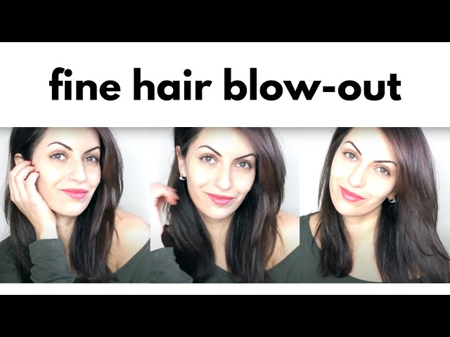 BLOWDRY TUTORIAL FOR FINE MEDIUM LENGTH HAIR | Lina Waled