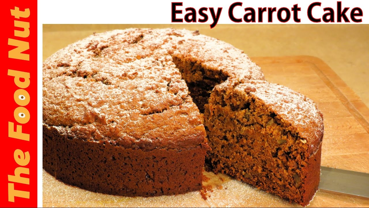 Homemade Carrot Cake Recipe From Scratch ( Easy - No Icing ...