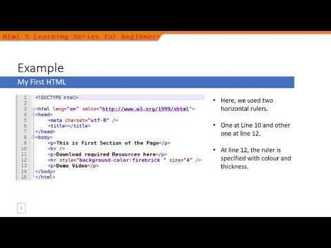 008 HTML5 HR Tag Demo
