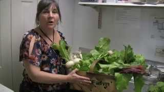 Katie Makes Baked Root Vegetables With Lime And Honey Ginger Yogurt Dressing