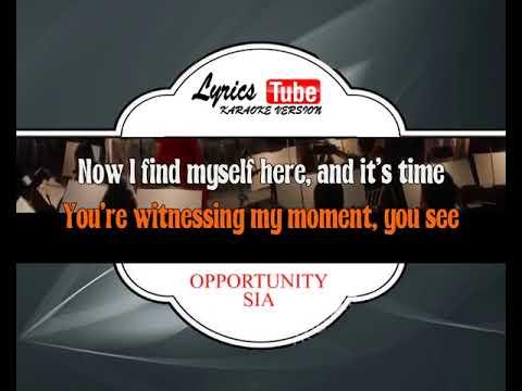 Karaoke Music SIA - OPPORTUNITY | Official Karaoke Musik Video