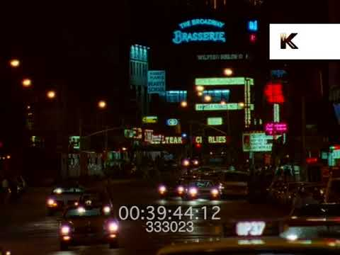 1985 Times Square at Night, New York 1980s