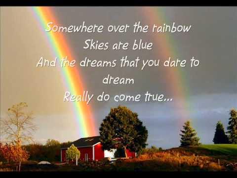 Somewhere Over the Rainbow -Glee Cast Lyrics-