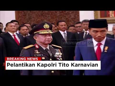 Full - Pelantikan Kapolri Tito Karnavian oleh Presiden Joko Widodo