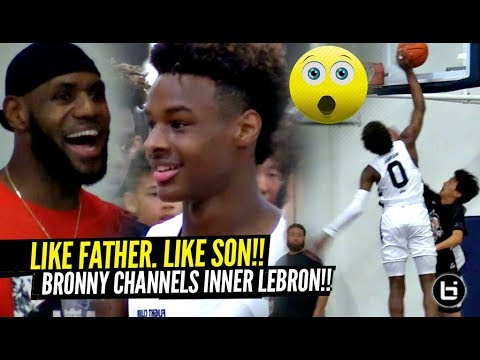 Bronny James INSANE Chasedown Block Gets LeBron OUT HIS SEAT!!! Like Father. Like Son!