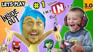 Lets Play DISNEY INFINITY 3.0 INSIDE OUT #1: Into the Mind