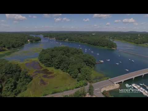Flying about York Harbor in York Maine HD
