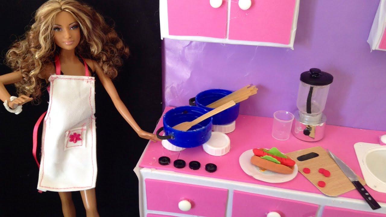 Como hacer utencilios de cocina para mu ecas how to kitchen utensils for dolls youtube - Como hacer muebles para casa de munecas ...