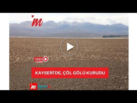 Kayseri'de, Çöl Gölü kurudu