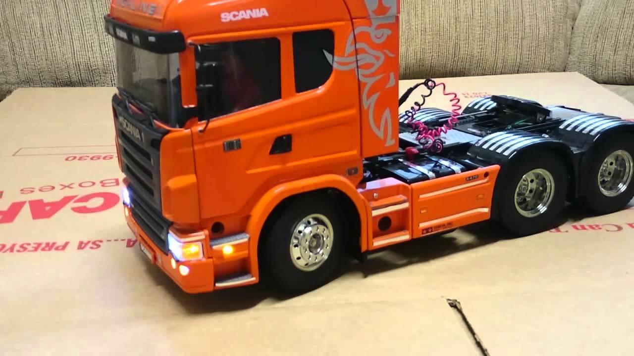 Tamiya RC Scania R620 Highline 1/14 w/ MFC-01 - YouTube