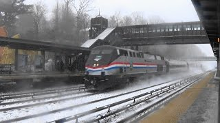 Metro North & Amtrak Saturday Snow Day Railfanning at Riverdale