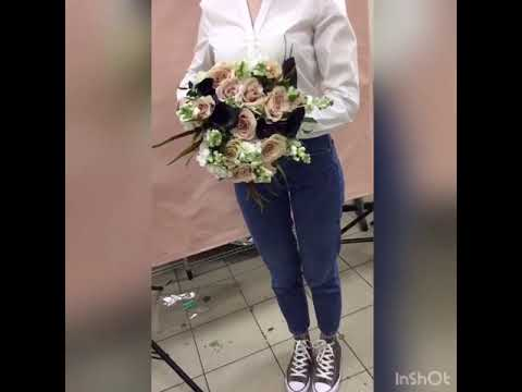 Букет альстромерия, калла, роза | Доставка цветов PION.RU