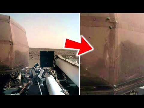 People Claim They Can See A Humanoid Anomaly Reflection On InSight Probe On Mars