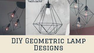 DIY Geometric lamp design || EASY HOME DECOR