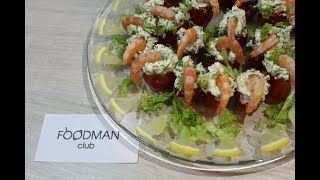 Закуска из помидоров черри и креветок: рецепт от Foodman.club