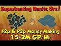 Superheating Runite Ore! 1.5-2M Gp/Hr [Runescape 3] F2p & P2p Money Making!