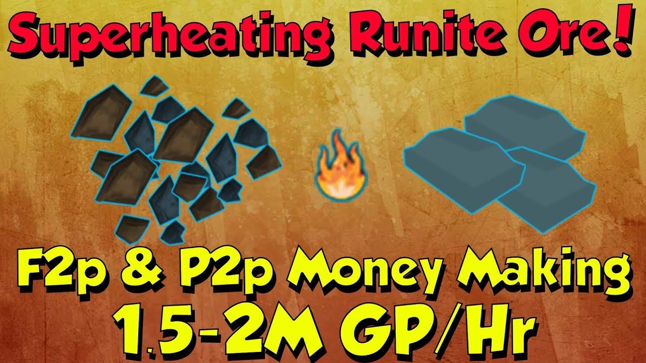 Superheating Runite Ore! 1.5-2M Gp/Hr [Runescape 3] F2p & P2p ...