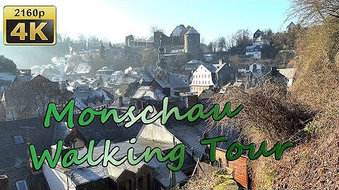 Monschau, Walking Tour - Germany 4K Travel Channel