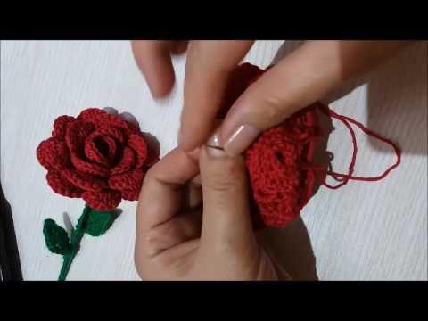 Вязание крючком розы видео урок