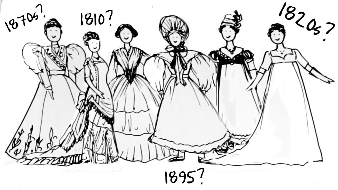 6f76b6c1436 19th Century Fashion - How To Tell Different Decades Apart  - YouTube