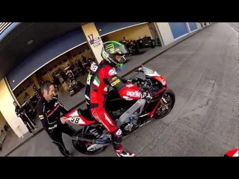 Alex Hofmann chasing Eugene Laverty - Helmet Cam Jerez !