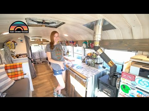 This Young Family Lives & Travels Full Time In This Gorgeous School Bus Conversion
