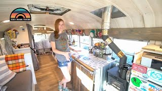 Gorgeous School Bus Conversion Built & Lived In Full Time By Young Family