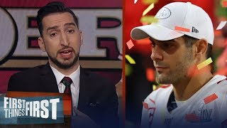 Jimmy Garoppolo had an opportunity to be a hero & he failed — Nick Wright | NFL | FIRST THINGS FIRST