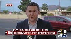 Students released from Apache Junction High School after lockdown lifted