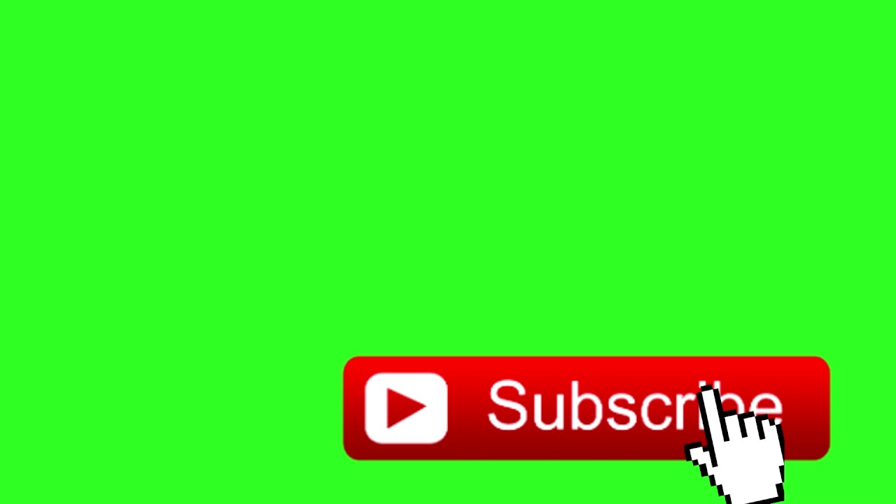 Animated Youtube Like Button - Green Screen Overlay !