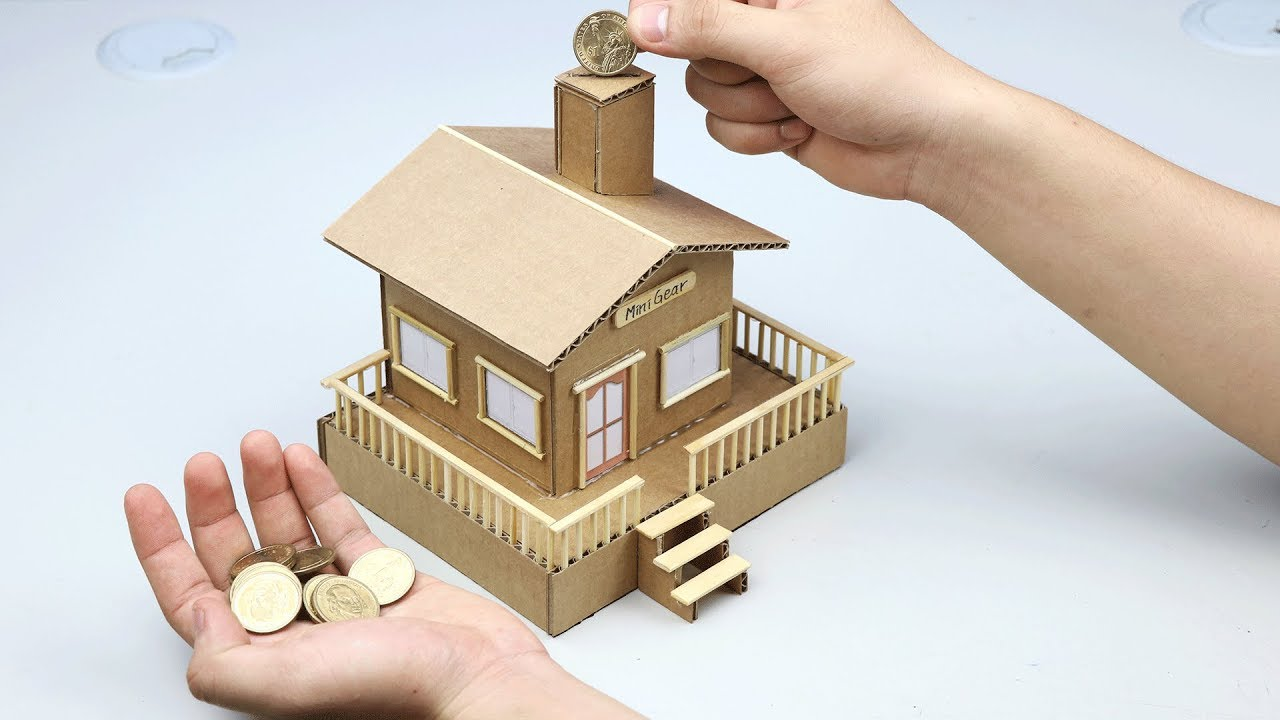 How to make personal house saving coin youtube for How to save to build a house