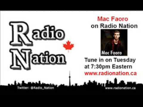 Mac Faoro's live interview on Radio Nation (December 18th 2012)