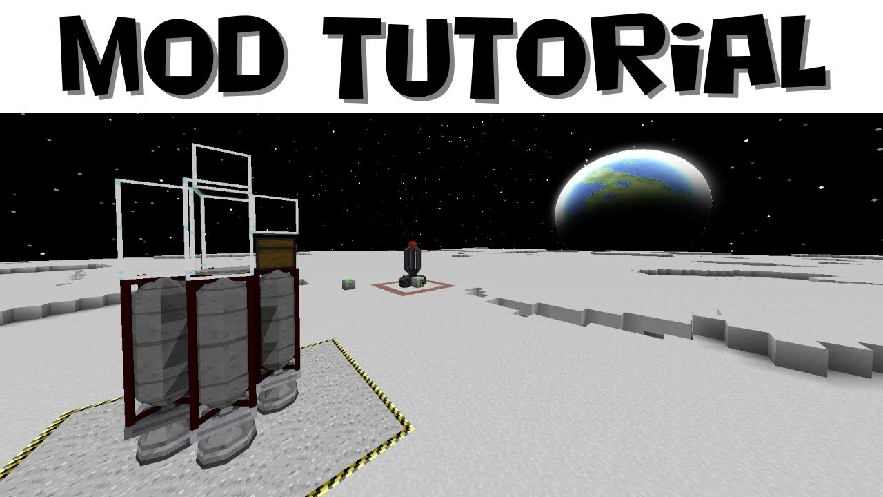 Advanced Rocketry Tutorial #4 - Building Rockets and Moon Travel (Minecraft  1 12 2)