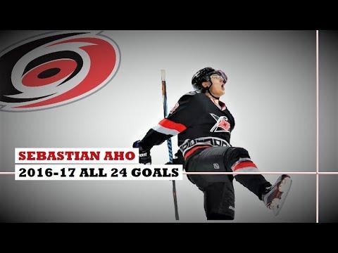 Sebastian Aho (#20) ● ALL 24 Goals 2016-17 Season (HD)