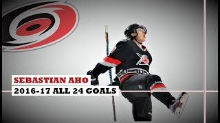 Sebastian Aho (#20) ● ALL 24 Goals 2016-17 Season (HD)