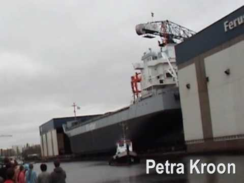 "Tewaterlating / Ship Launching / Stapellauf  ""Flinter America"" @ Ferus Smit Shipyard 10 april 2010"