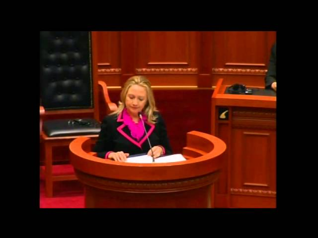 Secretary Clinton Delivers Remarks Commemorating 100 Years of Albanian Independence