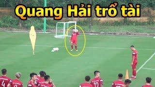 Thử Thách Bóng Đá đi xem Quang Hải , Phan Văn Đức ĐT Việt Nam tập World Cup 2022