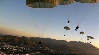 Acidente em Salto de Paraquedas Militar - HD