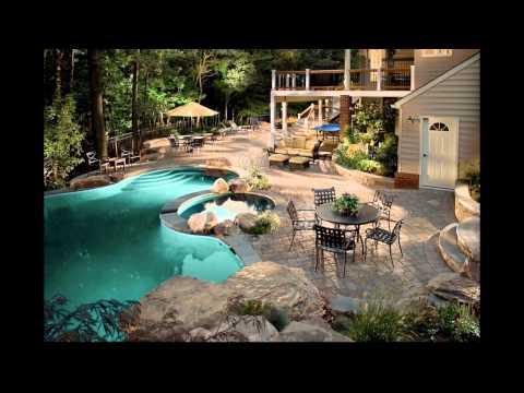 Dise o de jardines modernos con piscina hd 3d arte y for Paisajismo jardines con piscina