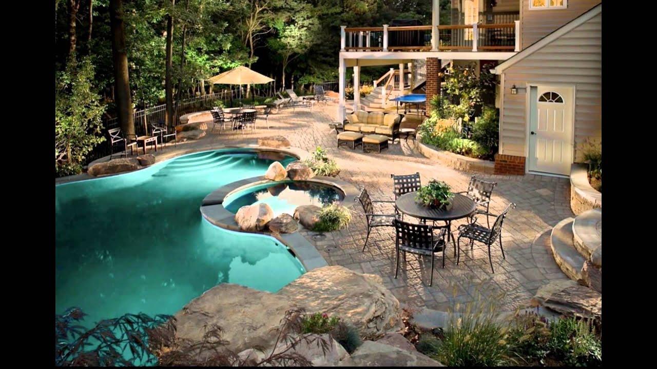 Diseo de Jardines Modernos con piscina HD3D Arte y