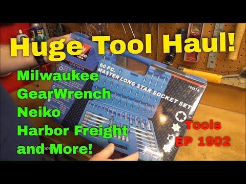 Tools Episode 1902: Huge Tool Haul Featuring Tools From Milwaukee, OTC, Vessel and More!